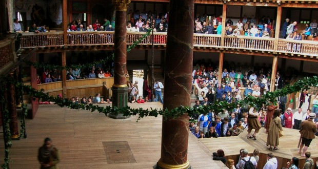 Actors performing at Shakespeare's Globe Theatre, London