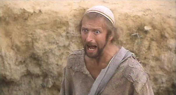 The unfortunate Brian from Monty Python's infamous epic: The Life of Brian