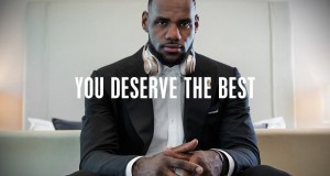 "Lebron James from the ""You Deserve It"" advertisement for Beats Headphones"